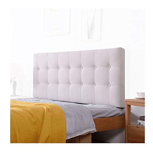 PENGFEI Tête De Lit Coussins Oreiller Coussin Lombaire Wedge Pad Pillow Literie Lin Mur Rembourré Hook & Loop Fixé, 12 Couleurs, 4 Tailles (Color : Beige, Size : 180CM)