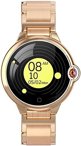 Reloj inteligente 1 22 pulgadas de alta definición doble curvo espejo recordatorio de llamada monitoreo del sueño IP67 impermeable pulsera deportiva inteligente para Android y Ios-Rose diamant