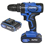21V Cordless Drill Driver Screwdriver with Magnet, Use as Hammer 3/8 Inch Chuck