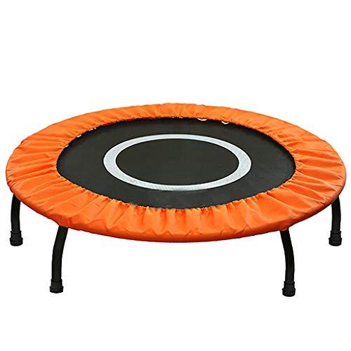 HYJBGGH Trampolines d'extérieur Trampoline Fitness Adulte 40 Pouces Trampoline Muet Intérieur Oxford Trampette Haute Qualité Professionnel Gym Rebounder Mini Trampolines (Color : Orange)