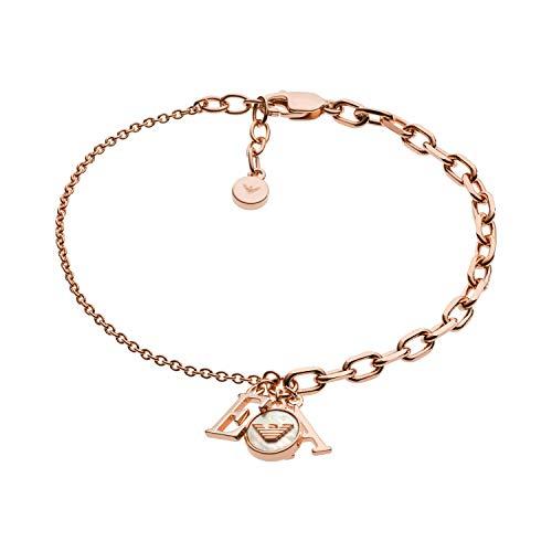 Emporio Armani Damen-Kettenarmband 925 Sterlingsilber Perlmutt EG3385221