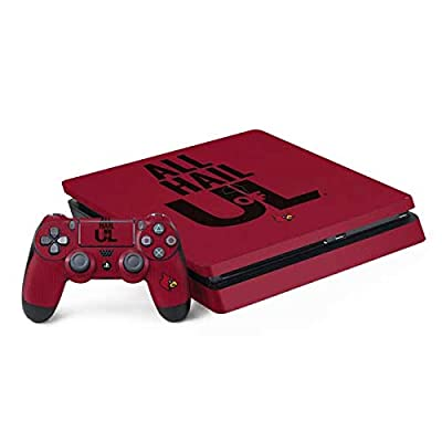 Skinit Decal Gaming Skin for PS4 Slim Bundle - Officially Licensed College Louisville All Hail U of L Design