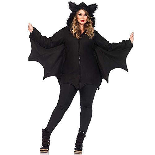 Hcxbb-b Traje de Mujeres de Halloween del Palo de Vampiro, más el tamaño, Fancy Dress Party Cosplay Traje for señoras Adultas (Color : Black, Size : XXX-Large)