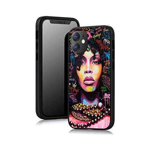 Alvhntr Schutzhülle für iPhone 12 Mini 13,7 cm (5,4 Zoll), Motiv Afrikanisches Mädchen, Schwarz