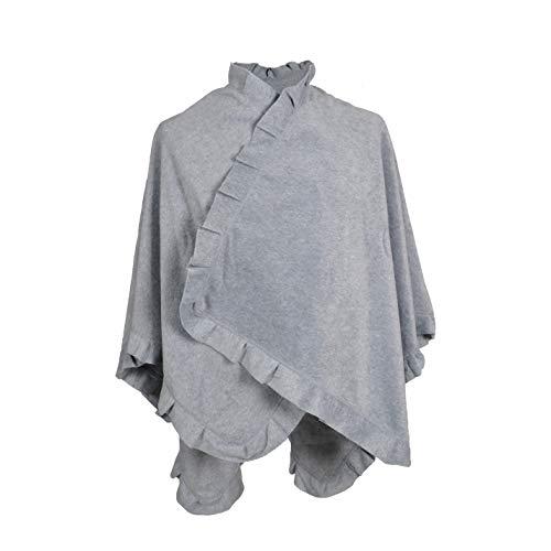 TOUTACOO, Poncho Cape aus Fleece - Damen 08-Grau