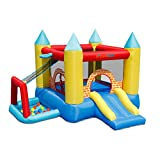 Bounceland Play Day 4 in 1 Bounce House with Ball Pit, 10 ft L x 9 ft W x 7 ft, Basketball Hoop, Fun Slide, Comes with UL Certified Blower Fun for Kids Party, Premium Quality, Indoor and Outdoor Use