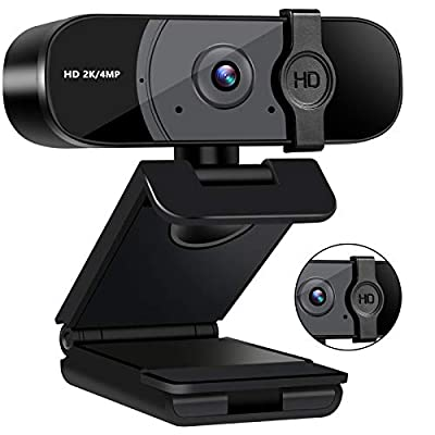 USB Webcam, 1440P HD Computer Camera with Micro...