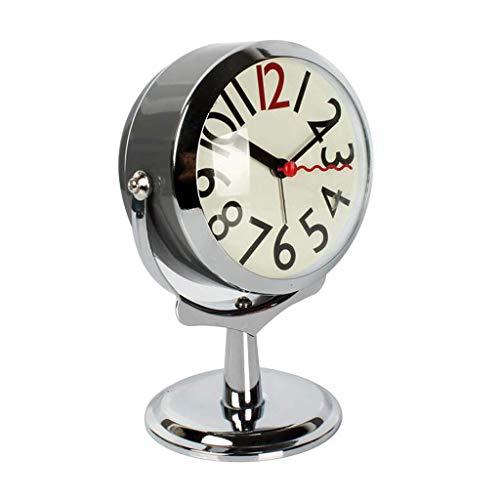 ZBNZ Difícil levantarse Loud simple alarma despertador estudiante perezoso creativo del sonido anormal,silencioso reloj de cabecera (Color : B)