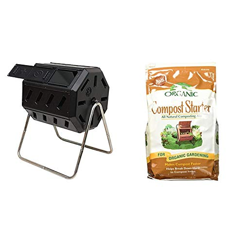 Lowest Prices! FCMP Outdoor IM4000 Tumbling Composter, 37 Gallon, Black & Espoma Organic Traditions ...