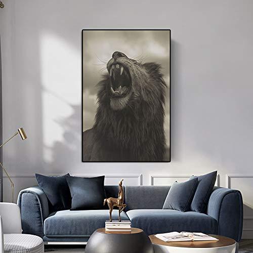 wZUN Imagen de Animal Arte Lienzo impresión Pintura de Anim
