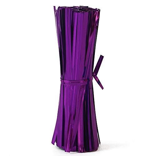 VOZLAC Twist Ties for Treat Bags 750 Pcs Party Cake Pops Ties 3.94' (Purple)