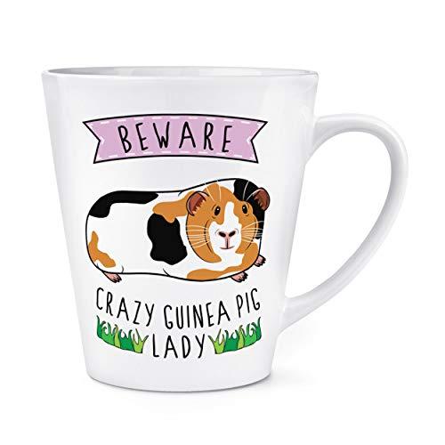 Attention Fou Cochon D'Inde Dame 12oz Latte Tasse
