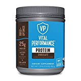 Vital Performance Whey Protein Powder - 25g Lactose-Free Milk Protein Isolate - NSF for Sport Certified - 10g Grass-Fed Collagen Peptides - 8g EAAs - 5g BCAAs - Gluten-Free (Chocolate, 1.72lb)