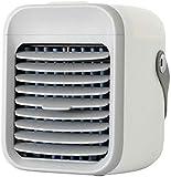 Aire Acondicionado Mini portátil, Enfriador de Aire Personal con 3 velocidades de Viento Pantalla táctil Pequeño Ventilador de Escritorio, Mini Ventilador de Aire Acondicionado para el hogar-Blanco