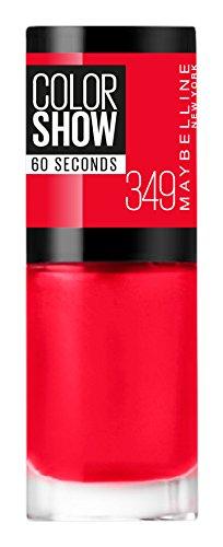Maybelline Color Show 349 Power Red - esmaltes de uñas (Rojo, Power Red, Francia)