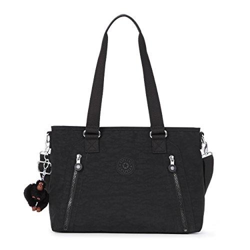 Kipling Angela Tonal Handbag, Black t
