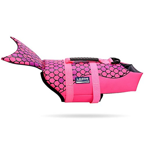 SMALLLEE_LUCKY_STORE Fish Style Pet floatation Vest Dog...