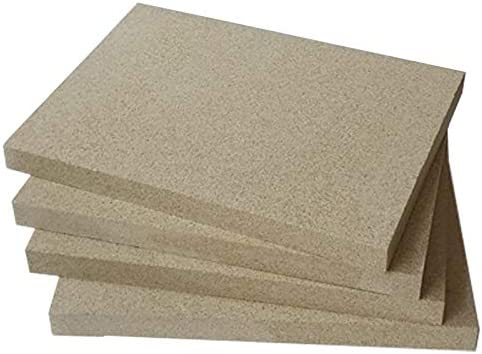 revestimiento de chamota para estufas 25 mm de grosor Placas de vermiculita 400 x 300 mm