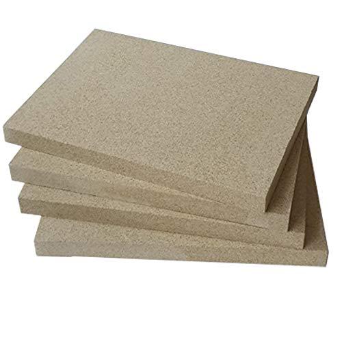 Vermiculite Platten 400x600mm 25mm stark 4 Platten Feuerraum Auskleidung Schamotteersatz Ofen