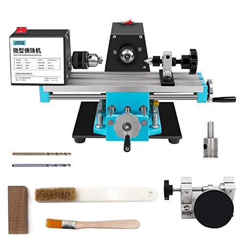 1200 W de velocidad del motor 5000 RPM para grabado y esmerilado de piedra de madera, máquina pulidora de perlas de torno, tornos de mesa de 220 V, herramientas de mecanizado CNC con accesorios de pu