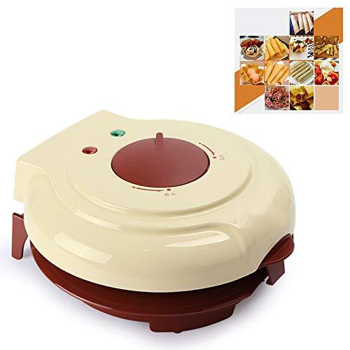 Wafelijzer IJzer Machine Elektrische cakemaker voor individuele wafels Diepe kookplaten voor pannenkoeken Koekjes,Yellow