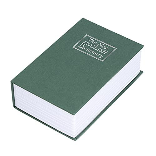 Libro de desvío Caja Fuerte Oculta, Papel Texturizado + Caja Fuerte de Libro de imitación de Acero Inoxidable para Tarjetas de identificación para Tarjetas bancarias para joyería