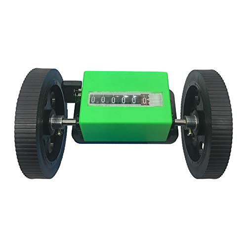 T-king JM316 Rolling Counter- 360RPM Mechanical Rotation Length Counter Wheel, Textile Length Meter Transmission Ratio 1:3 Accuracy 0.01M Range 0-99999.9 Meters