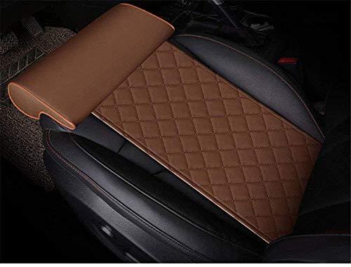YQJ Car seat Extender Cushion Leg Support Pillow?Pillow for car Driver seat?Chair Leg Extenders?Leather Knee Pads Long-Distance Driving car Bus Train Office Home Leg Cushion (Brown)