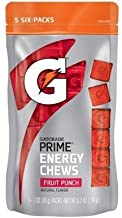 Gatorade Prime Energy Chews Fruit Punch Natural Flavor 5-Sleeves