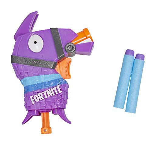 Fortnite Llama Nerf MicroShots Dart-Spielzeug-Blaster und 2 Nerf Elite Darts für Kinder, Teenager, Erwachsene
