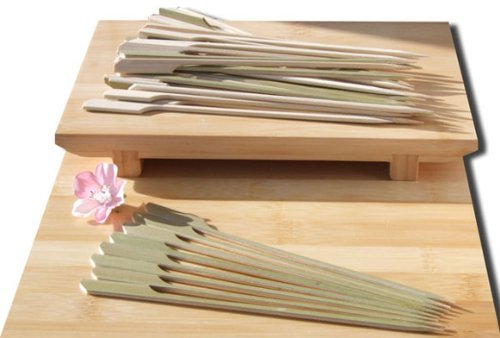Gifts Of The Orient GOTO - Set di 500 spiedini da cocktail di bambù in stile giapponese, 18 cm