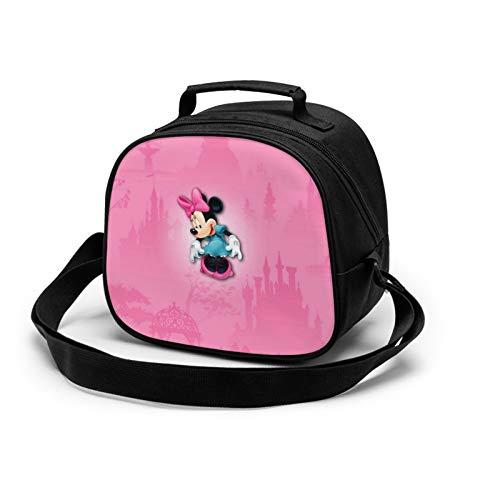 Minnie Cartoon Mouse Bolsa de almuerzo aislada para niños, caja de almacenamiento de alimentos caliente, caja de almuerzo, se puede utilizar en la escuela