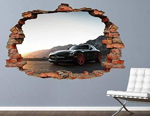 TRB muur StickersMercedes nieuwe muursticker decoratiecampagne verpletterd 3d sticker kunst vinyl
