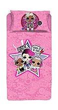 El Juego Completo para Cama Individual LOL Surprise Rosa Incluye: sábana encimera, Bajera con Esquinas y Funda de Almohada, Multicolor