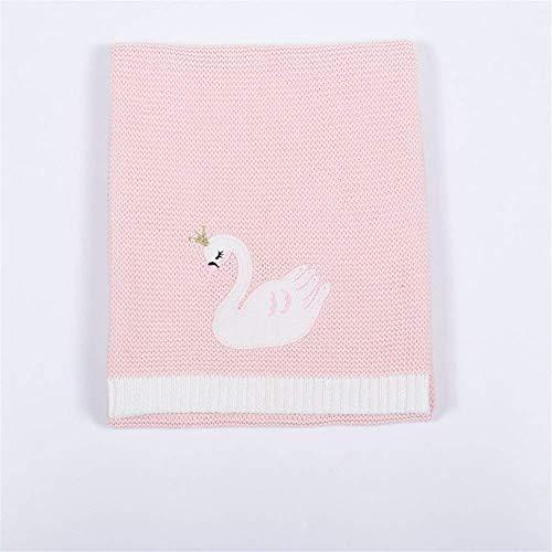 Manta de bebé versátil Manta de Punto Gruesa súper Suave Ropa de Cama Niño niña Manta de bebé Suave y cálida Sofá Mullido Color: A, Tamaño: 76x102cm