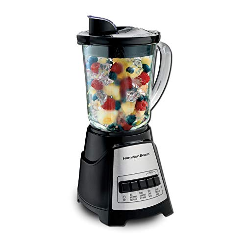 Hamilton Beach Power Elite Blender with 12 Functions for Puree, Ice Crush, Shakes and Smoothies and...