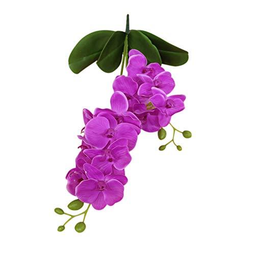 Mosichi Deals 1Pc Artificial Flower Butterfly Orchid Leaf Garden DIY Wedding Party Home Decor - Light Purple