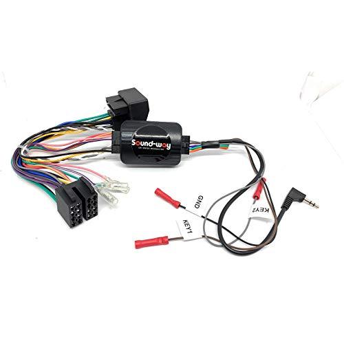 Sound Way - Adattatore interfaccia per comandi al Volante con Cavetto per autoradio di Tutte Le Marche per Peugeot - SWC11
