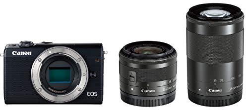 Canon ミラーレス一眼カメラ EOS M100 ダブルズームキット ブラック EOSM100BK-WZK