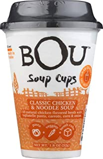 Bou Brands Soup Cup, Classic Chicken Noodle 1.8 OZ (Pack of 6)