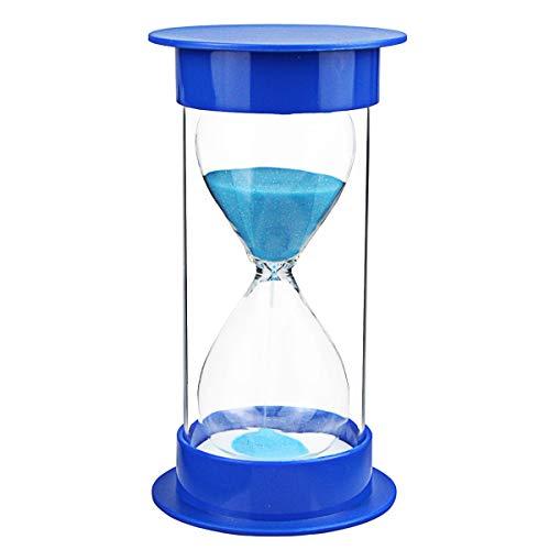 Toirxarn Reloj de arena, doble protección, asistente de gestión del tiempo, regalo creativo, decoración de la oficina de la sala de estar - 30 minutos Azul