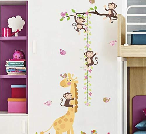 COVPAW® XXL Muurstickers Muurtattoo kinderkamer kinderen hoogte meetlat meetlint AFFE giraffe Muursticker Wall Sticker kinderen jongen meisjes baby babykamer