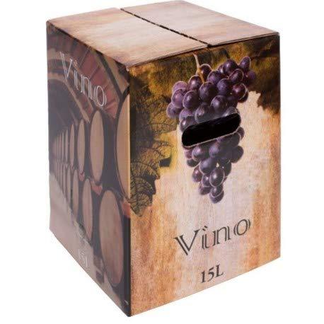 Vino Tinto Joven Bag in Box de 15L Bodegas Ven (Equivalente a 20 Botellas de 750 ml) caja de vino tinto con grifo y asa incorporada Vino Económico de Calidad Bodegas Ven.