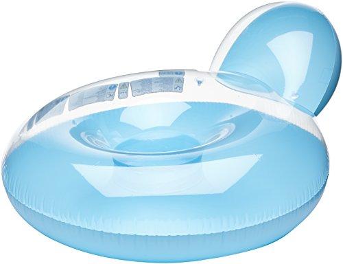 Luftmatratze Lounge Lehne für Pool Garten in blau