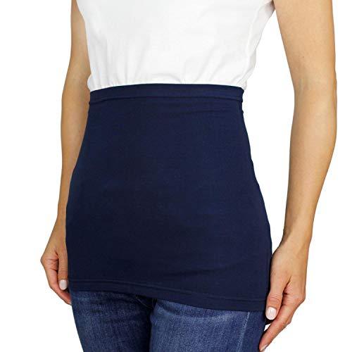Alkato Damen Nierenwärmer T-Shirtverlängerung Sporttube Uni, Farbe: Dunkelblau, Größe: 42