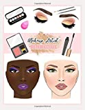 Makeup Artist Face Charts: Blank Practice Workbook for Student, Amateur & Professional Makeup Artist