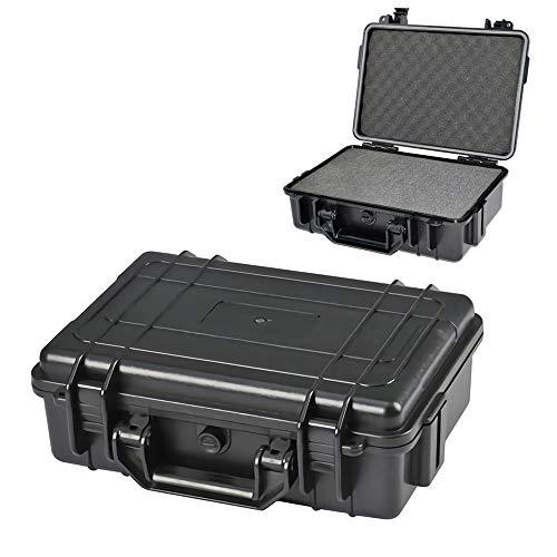 Lixada Caja de Herramientas Impermeable Contenedor Hermético Caja de Seguridad ABS Plastico Caja Seca para Táctica al Aire Libre