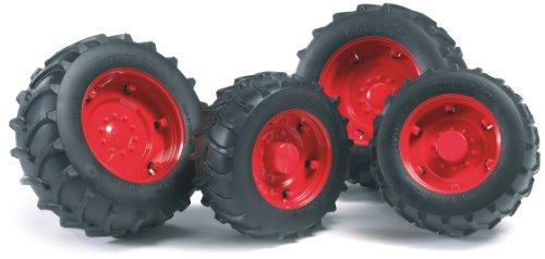Bruder 02322 Doble-rueda para tractores de la Serie 2000, Color Rojo