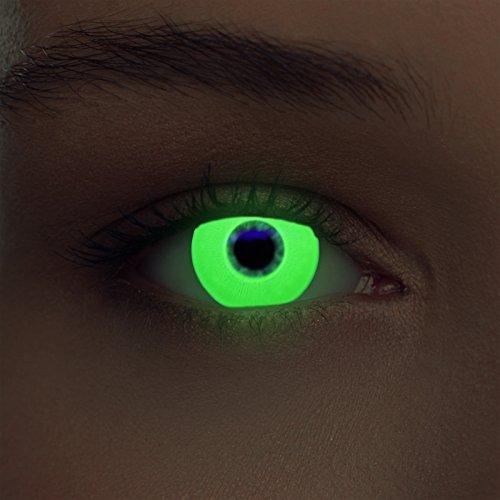 Grüne leuchtende Schwarzlicht Kontaktlinsen Neon Kontaktlinsen in grün (Glowing Green)