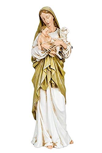 12 Inch Madonna and Child W/lamb Figurine By Josephs Studio 40735